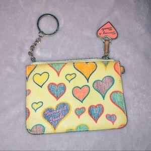 Dooney and Bourke hearts wallet wristlet